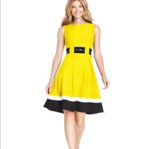 Calvin Klein Dress Yellow & Black